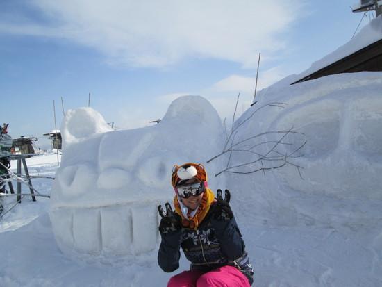 かもしか見ました。|白馬岩岳スノーフィールドのクチコミ画像