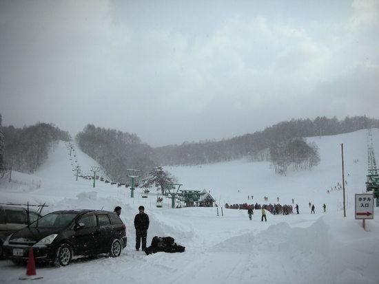 今日は混んでいた|水上高原・奥利根温泉 藤原スキー場のクチコミ画像