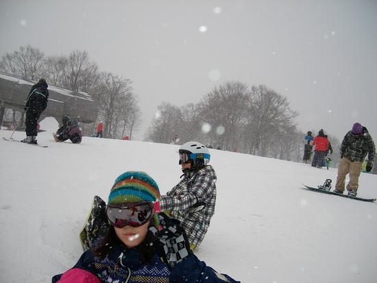 終日大雪、ゲレンデコンディションはしり上がり|白馬岩岳スノーフィールドのクチコミ画像