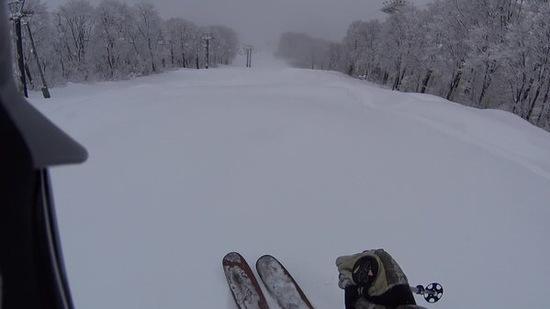 フカフカパウダーを堪能しました!|六日町八海山スキー場のクチコミ画像