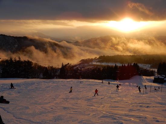 夕日に向かって|スキージャム勝山のクチコミ画像3
