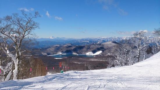 綺麗な青空&極上パウダー|たんばらスキーパークのクチコミ画像