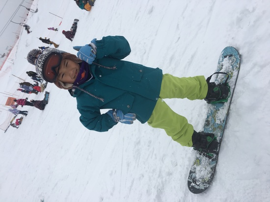 息子初スノボデビュー|スキージャム勝山のクチコミ画像