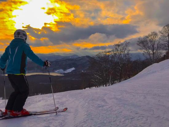 夕陽が美しい。|たんばらスキーパークのクチコミ画像