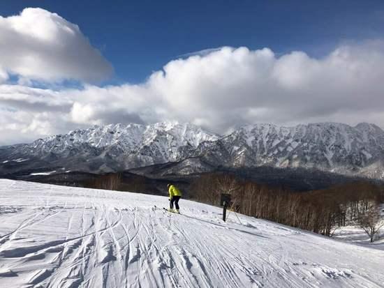戸隠山を眺めながら滑る贅沢さ、神秘さがイイ|戸隠スキー場のクチコミ画像