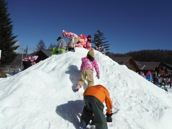 孫の雪遊び|軽井沢スノーパークのクチコミ画像1