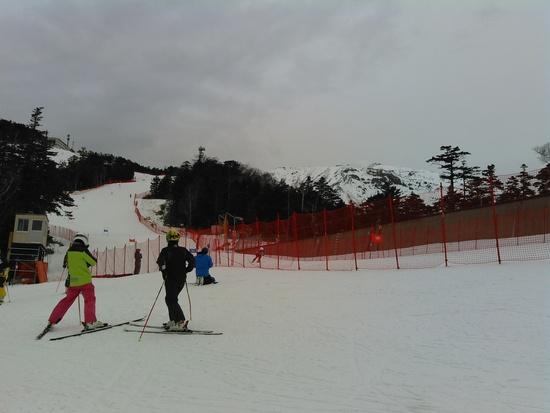 固いバーンに粉雪が載っている Ontake2240のクチコミ画像2