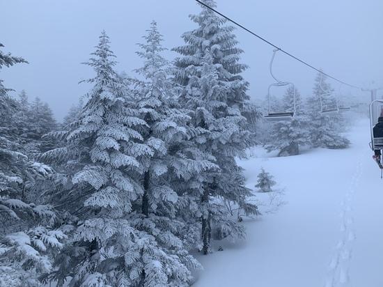 すごい地吹雪でした|蔵王温泉スキー場のクチコミ画像