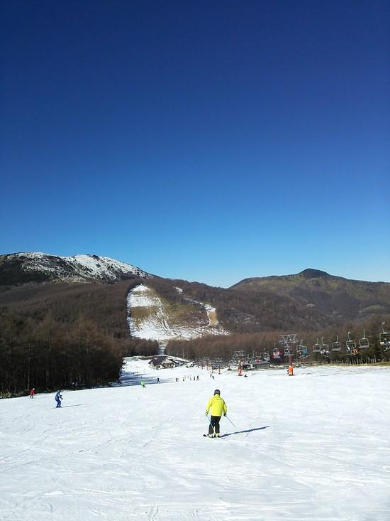 初滑り!雪あります!!|湯の丸スキー場のクチコミ画像