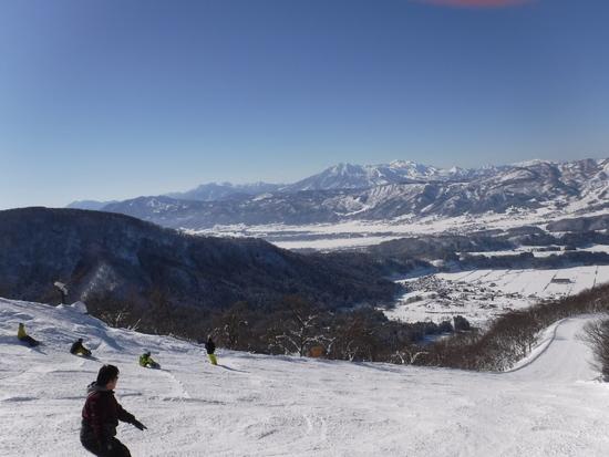 スカイラインの先に・・・ 野沢温泉スキー場のクチコミ画像
