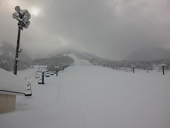 一面のノートラックバーンだった牧の入スノーパーク 北信州 木島平スキー場のクチコミ画像2