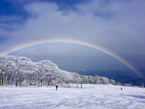 晴天!パウダー!虹!!!|夏油高原スキー場のクチコミ画像
