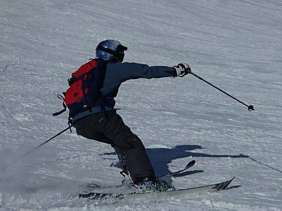雪が少ない今年ですが、なんとかここでは滑れました|神鍋高原 万場スキー場のクチコミ画像