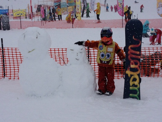初めてのターン!|上越国際スキー場のクチコミ画像