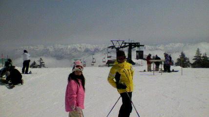 4月でもパウダー|かぐらスキー場のクチコミ画像