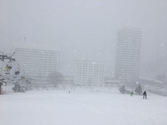待望の雪が降っていました|苗場スキー場のクチコミ画像