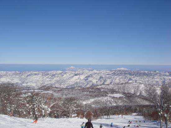 海が見えた! 野沢温泉スキー場のクチコミ画像