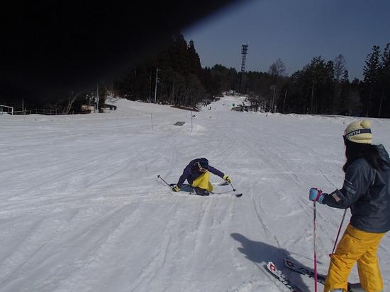 春の雪は 重っ!! 白馬さのさかスキー場のクチコミ画像2