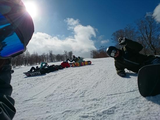 天気もメンツも最高!!でも雪が、、、|夏油高原スキー場のクチコミ画像