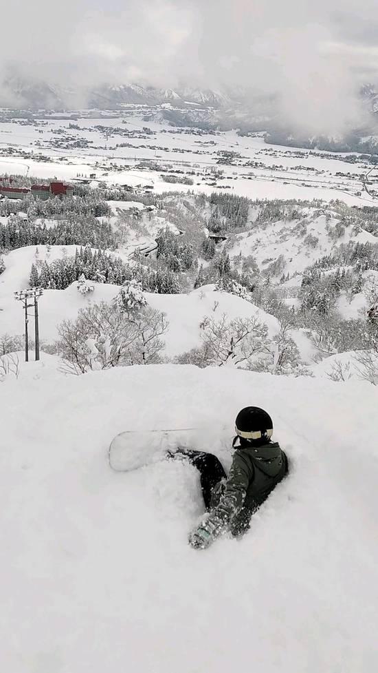モフりながら景色堪能 上越国際スキー場のクチコミ画像