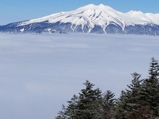 リフトで雲を抜けたら|信州松本 野麦峠スキー場のクチコミ画像