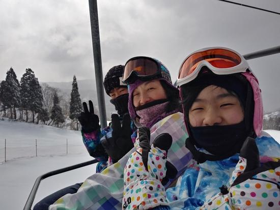 家族みんなでスノボ|スキージャム勝山のクチコミ画像