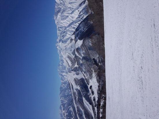 晴天だと180度雪景色!|白馬岩岳スノーフィールドのクチコミ画像
