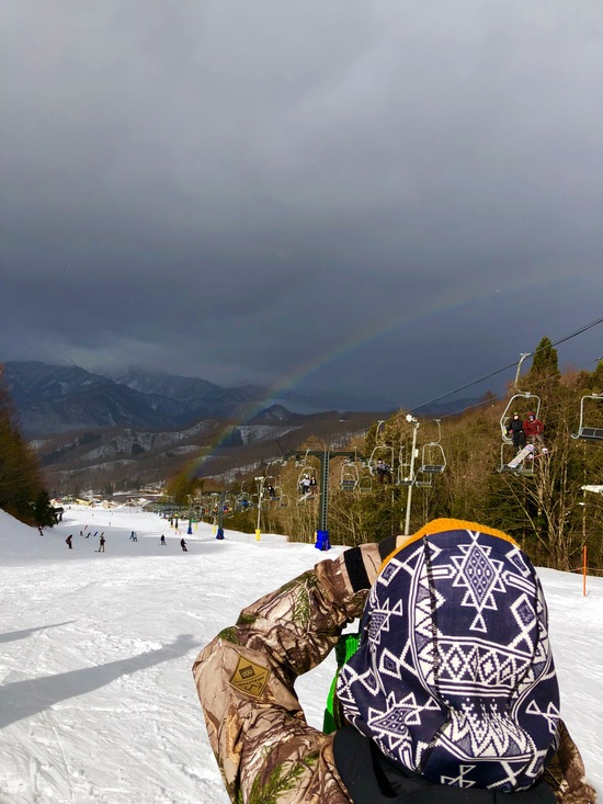 ゲレンデから虹!!!|水上宝台樹スキー場のクチコミ画像