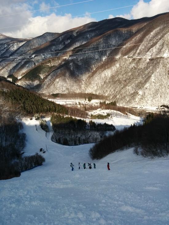 なかなかの急斜面|みなかみ町営赤沢スキー場のクチコミ画像