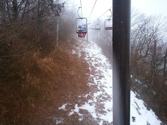 雪が少なくて残念。冬休みでちびっこが多い|湯沢中里スノーリゾートのクチコミ画像2