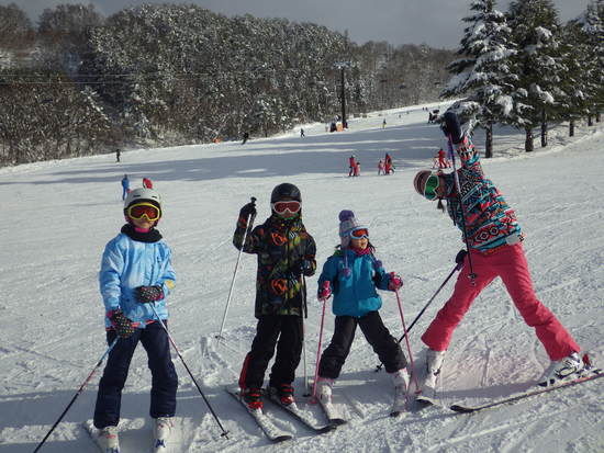 孫と一緒にスキー|北信州 木島平スキー場のクチコミ画像2
