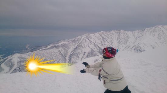これまたスッゲー景色!|白馬八方尾根スキー場のクチコミ画像