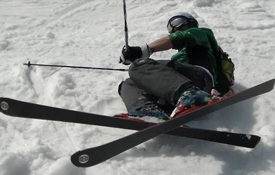 コブの練習でこけたところ|奥神鍋スキー場のクチコミ画像