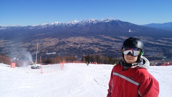 初滑りでへとへと|富士見パノラマリゾートのクチコミ画像