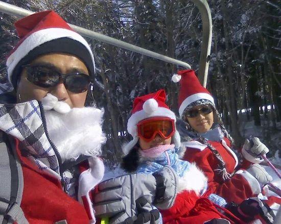 サンタの衣装で!!|ふじてんスノーリゾートのクチコミ画像