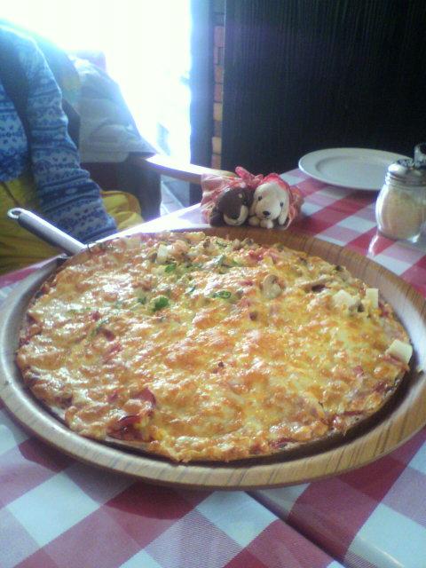 ホテルのラウンンジ リリカルのピザ|白馬コルチナスキー場のクチコミ画像